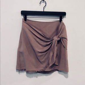 Mauve Skirt with Tie Detail